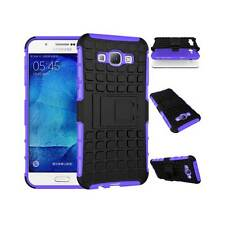 Heavy Duty ShockProof Hard Rubber Case Cover Stand For Samsung Galaxy Phones