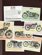 "GOLDEN ERA 1995 FULL SET OF 7 ""A.J.S. MOTOR CYCLES"" TRADE CARDS"