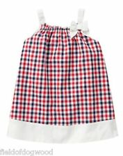NWT Gymboree Red Whie Cute Plaid dress 12 18 24 M Baby girls Toddler July 4th