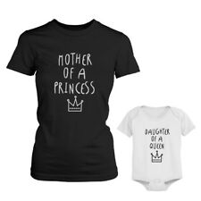 Mother Of Princess Mom, Daughter Of Queen Baby Girl Onesie Matching Outfits