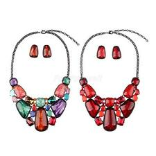 Fashion Jewelry Crystal Accessories Statement Necklace Stud Earings Jewelry Sets
