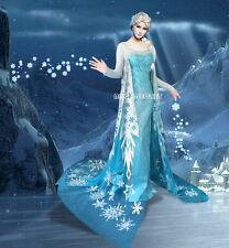 FJ710 Movies Frozen Snow Queen ELSA Cosplay Costume Dress tailor HANDMADE CUSTOM