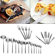 Kitchen Stainless Steel Cutlery Set Tableware Dining Utensils KNIVES FORKS SPOON