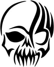 Tribal - Gothic Skull - Vinyl Car Window and Laptop Decal Sticker