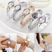 Women Girl Rhinestone watches women's Crystal Quartz Bracelet Bangle Wrist Watch