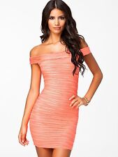 Women's Sexy Off Shoulder Sleeveless Bodycon Slash Neck Club Party Mini Dress