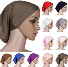 Underscarf Muslim Islamic Head Scarf Women Hijab Bonnet Cotton Headwrap Cover
