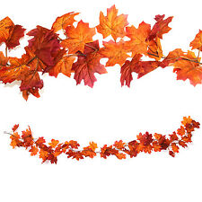 Autumn Leaf Leaves Door Garland. Halloween Thanksgiving. Maple Fall Decoration
