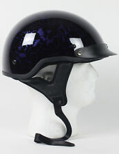 DOT PURPLE BONEYARD  MOTORCYCLE HALF HELMET BEANIE HELMETS SHORTY LIGHTER NEW
