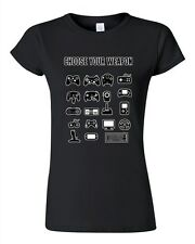 Junior New Choose Your Weapon Gamer Game Controller Nerd Funny DT T-Shirt Tee