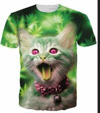 New Fashion Womens/Men Cute Kitten Cat 3D Print Casual T-Shirt CM465