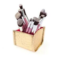 10Pcs Pro Makeup Brushes Powder Foundation Eyeshadow Cosmetic Brush Set + Holder
