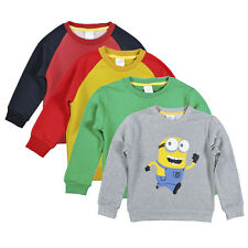 Minions Sweatshirts & Hoodies for Boys Autumn Winter Clothing Kids Girls Outwear