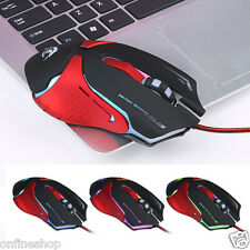 Hot 6D LED Optical USB Wired 3200 DPI Pro Gaming Mouse Mice For Laptop PC Gamer