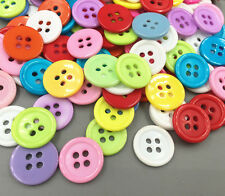 Resin 4-holes Mixed-color Round Buttons Sewing crafts scrapbooking 15mm