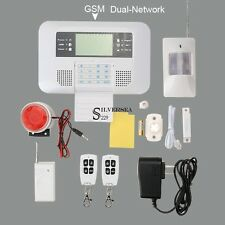Dual-Network Wireless GSM Home Burglar Security Alarm System Detector 433MHz New