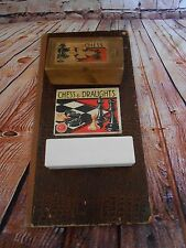 SET K & C LONDON VINTAGE WOODEN STAUNTON STYLE CHESS BOX BOARD + FOC DOMINOES