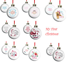 Personalised Baby 1st First Christmas Tree Decoration Ornament Bauble Gift Idea