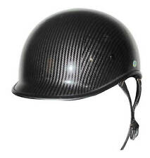 DOT CARBON FIBER LOOK POLO SHORTY  MOTORCYCLE HALF HELMET BEANIE LIGHTER SHELL