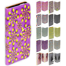For Samsung Galaxy Note 7 5 4 Note Edge Optical Illusion Print Wallet Phone Case