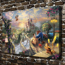 Disney Painting Beauty and the Beast HD Art Print On Canvas Home decor(Unframed)