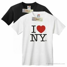 I Love NY Tees (Black, White) - New York City Cotton T-Shirt Souvenir Gift