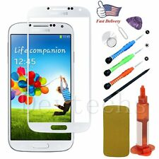 Replacement Front Touch Screen Glass Lens/Toosl/Glue For Samsung Galaxy S4 White