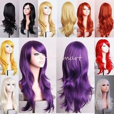 Japanese Anime Full Wigs Curly Wavy Layer Long Hair Cosplay Party Costume Wig #A