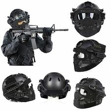 Tactical Airsoft Paintball Fast Helmet Protective with Mask Goggles & G4 System