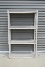 Durable Sterilite Plastic Shelving 4 and 5 Shelves Available (Ivory Colored)
