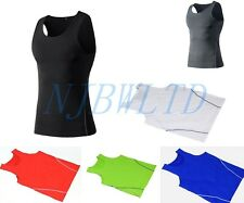 Mens Sports Under Compression Armour Base layer Short T-Shirt Athletic Vest
