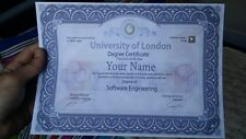 Novelty ANY University/Collage Diploma/Degree Certificate A4  (FUN fake) NVQ