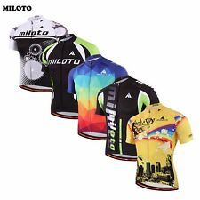 MILOTO Breathable Team Cycling Jersey Men Top Bike Clothing Short Sleeve T-shirt