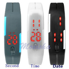 Unisex Silicone Touch Screen LED Digital Quartz Sports Watch Wristwatch 3 Colors
