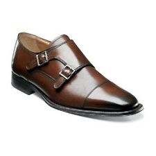 Florsheim Business Classico Monk mens shoes brown calfskin leather 12112-200 NEW