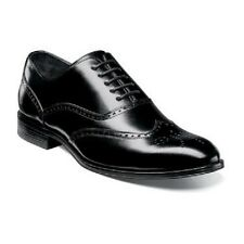 New Stacy Adams Mens shoes Stockwell Wingtip Oxford Black Leather 25073-001