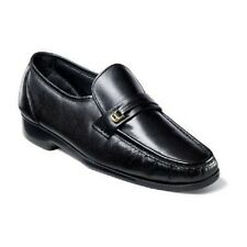 Mens Florsheim Riva Black shoes Dress up Leather Slip On Easy fit 17088-01  SALE