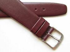Bordeaux genuine calf leather wirelug open end watch band