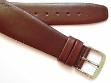 Bordeaux wirelug open end genuine calf leather watch band ~ 22 mm