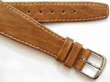 Vintage late 60's light brown wirelug open end watch band ~ 20 mm