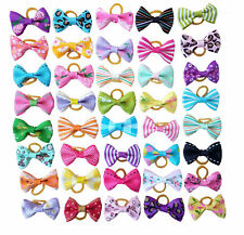 Mixed Pet Small Dog Hair Bows Rubber Bands Puppy Cat Bowknot Grooming Accessory