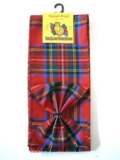 Scottish Mini Sash with Rosette (Weathered Tartans )  - Made in Scotland