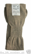 British Army Issue Number 2 Stone Thin Nylon / Wool Shoe Socks / Stockings - New
