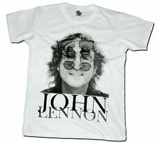 John Lennon The Beatles Men Printed T-Shirt Punk Pop Rock Band Shirts Size M , L