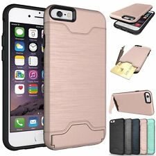 For Apple iPhone 6 6s Plus Case Slim Kickstand Credit Card Skin Hard Armor Cover