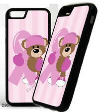 Breast Cancer Ribbon Boxing Bear Phone Case Cover For iPhone Samsung Galaxy D26