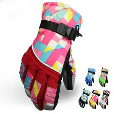 Boys Girls Winter Sports Snow Ski Skiing Snowboard Thermal Gloves 8-16 Years