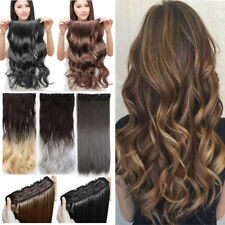 Cheap Price Best Quality Straight Curly Clip in Hair Extensions Brown Blonde USA