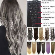 Real Thick 18Clips Clip in Full Head Hair Extensions Extension As Human Hair 826
