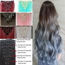 Real Thick 18Clips Clip in Full Head Hair Extensions Extension As Human Hair H88